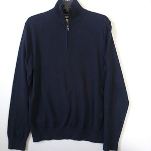 Banana Republic Cashmere Cotton Zip up Sweater M